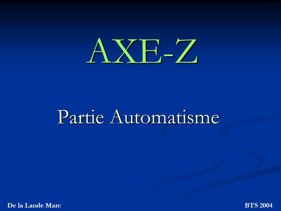 AXE-Z Partie Automatisme De la Lande Marc BTS 2004