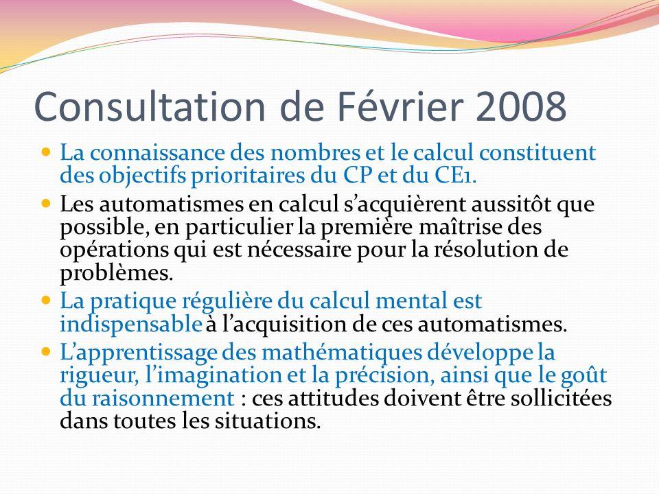 Consultation de Février 2008
