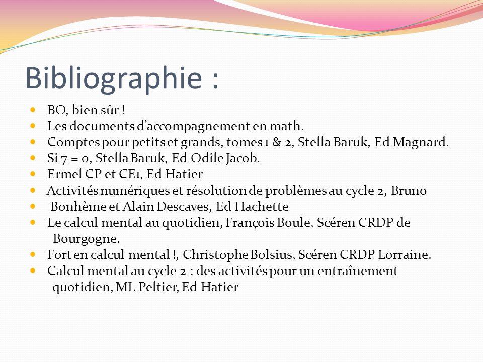 Bibliographie : BO, bien sûr ! Les documents d'accompagnement en math.