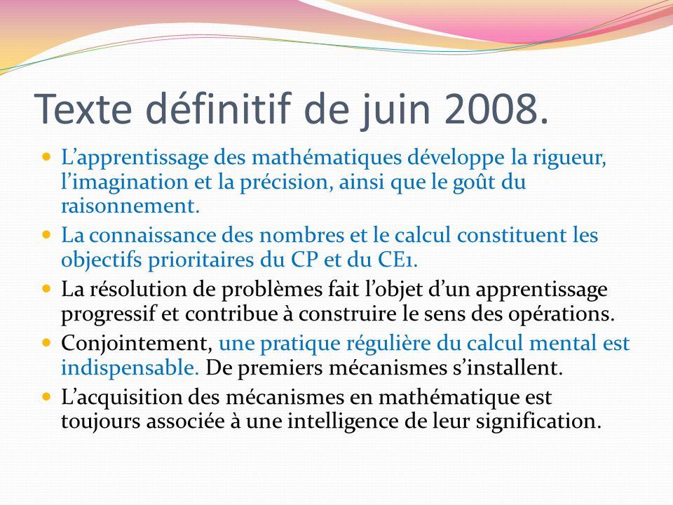 Texte définitif de juin 2008.