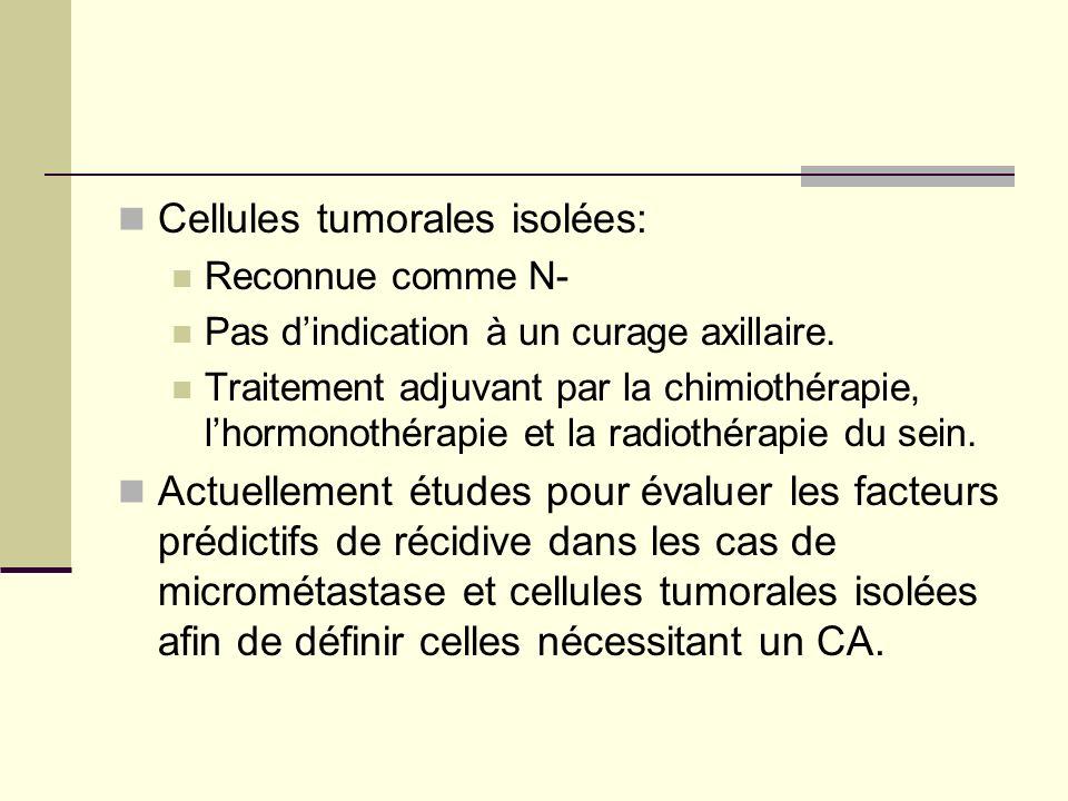 Cellules tumorales isolées: