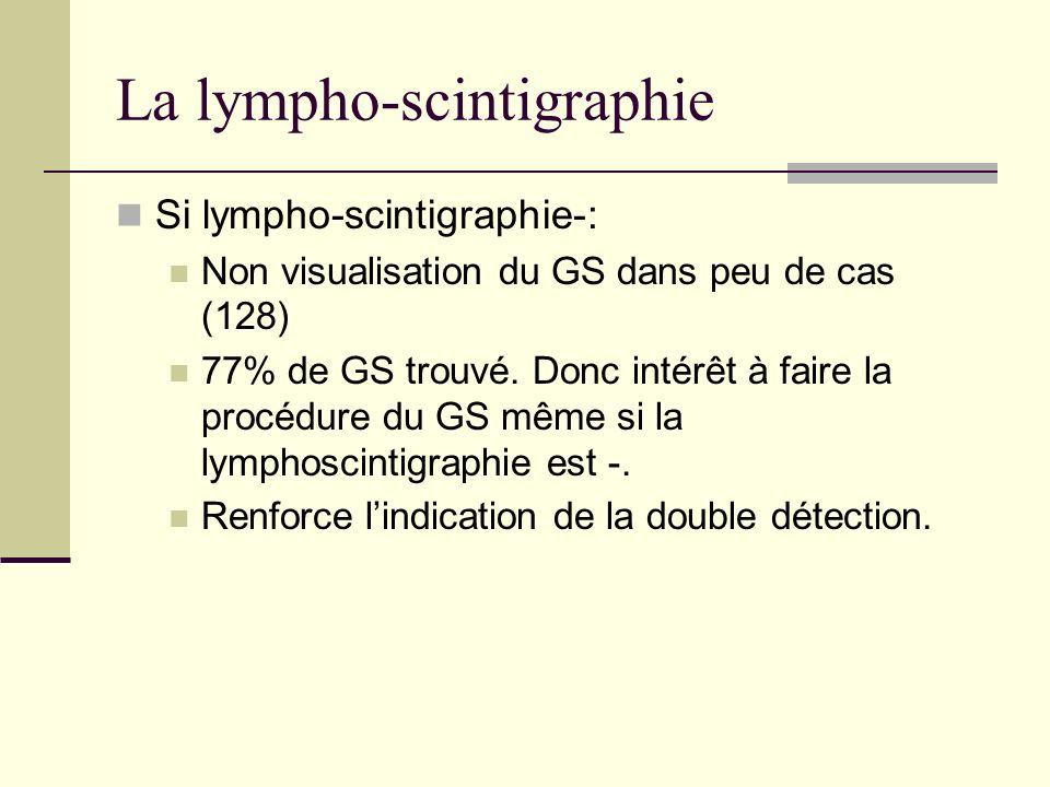 La lympho-scintigraphie