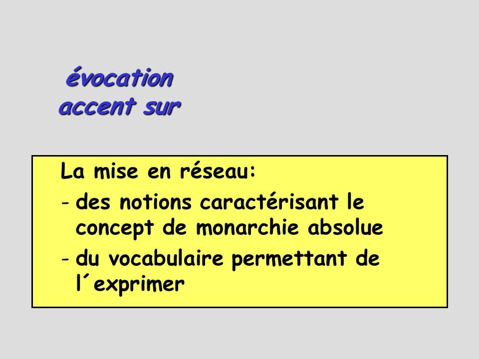 évocation accent sur La mise en réseau: