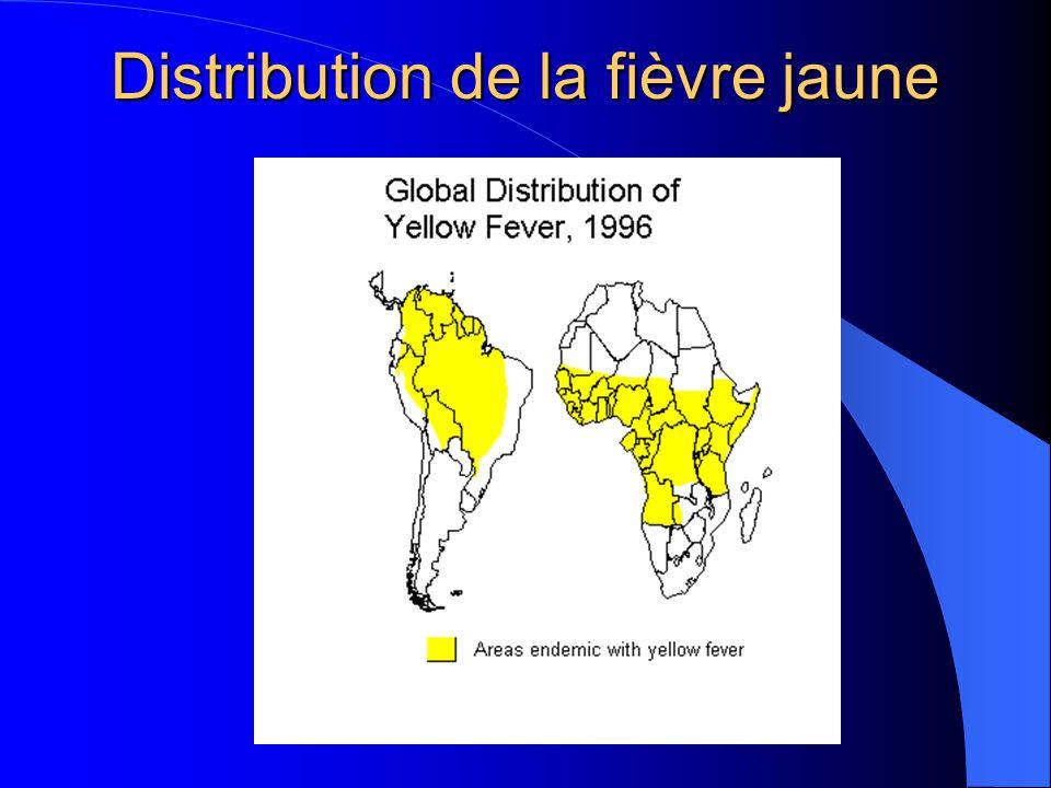 Distribution de la fièvre jaune