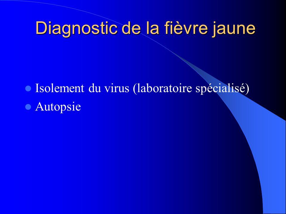 Diagnostic de la fièvre jaune