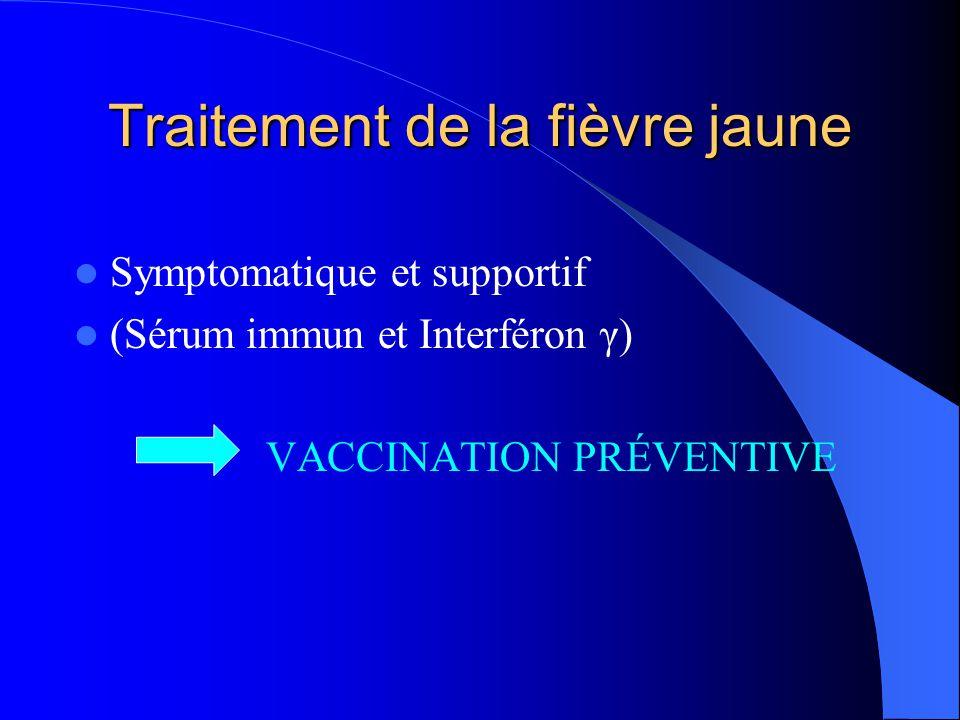 Traitement de la fièvre jaune