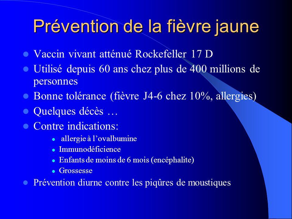 Prévention de la fièvre jaune