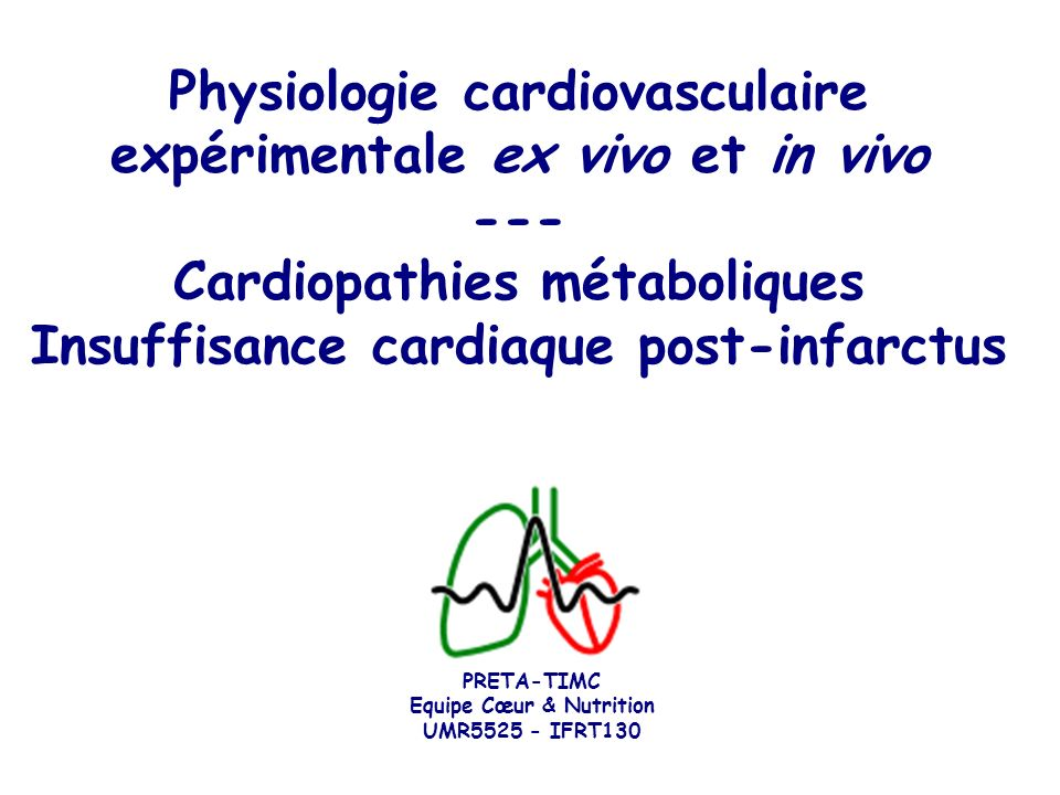 Physiologie cardiovasculaire expérimentale ex vivo et in vivo ---