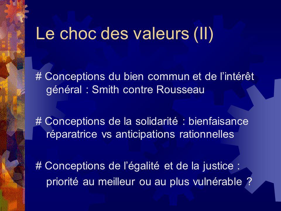 Le choc des valeurs (II)