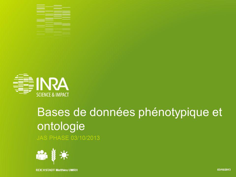 Bases de données phénotypique et ontologie