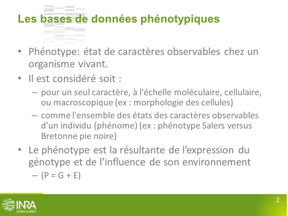 Les bases de données phénotypiques