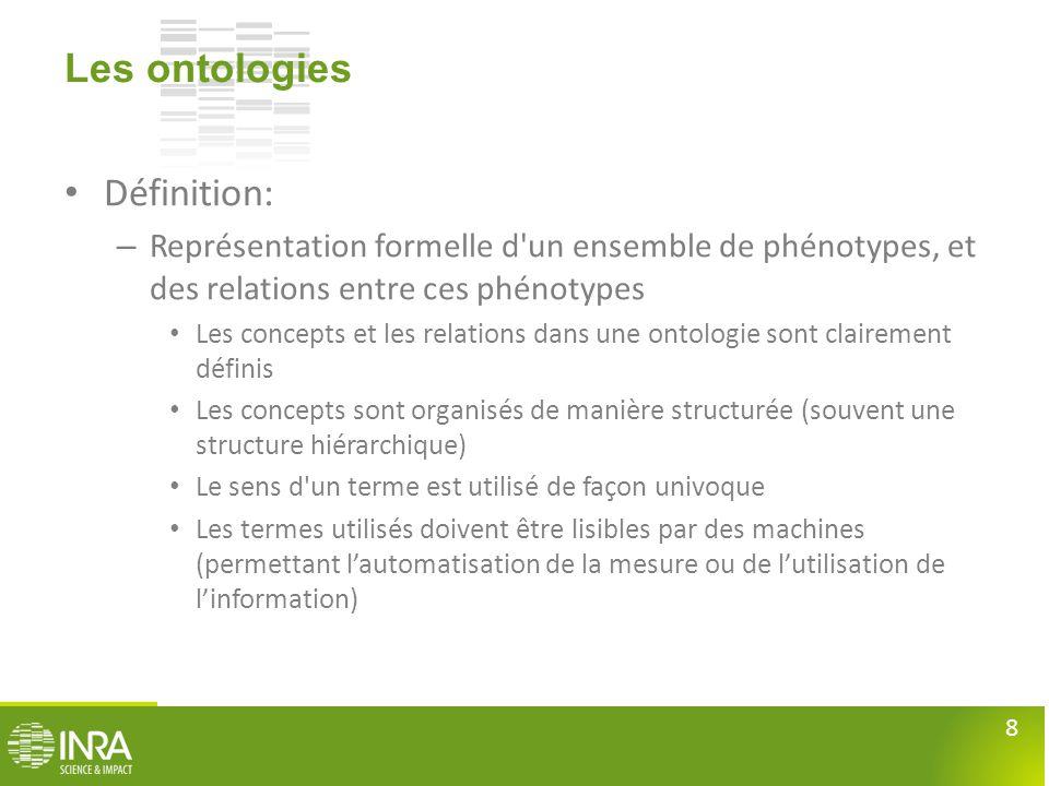 Les ontologies Définition: