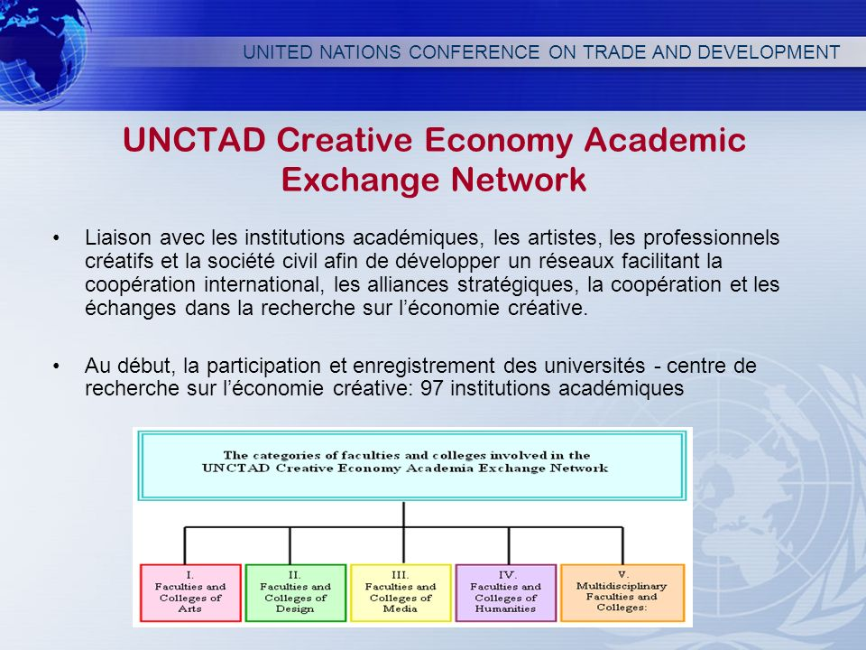 UNCTAD Creative Economy Academic Exchange Network