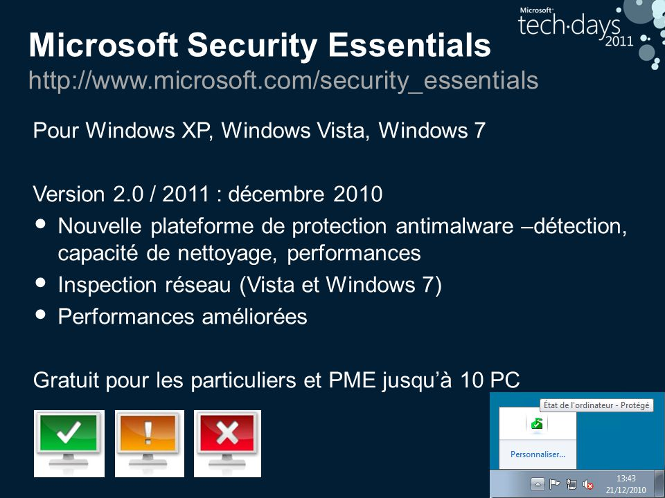 Microsoft Security Essentials http://www. microsoft