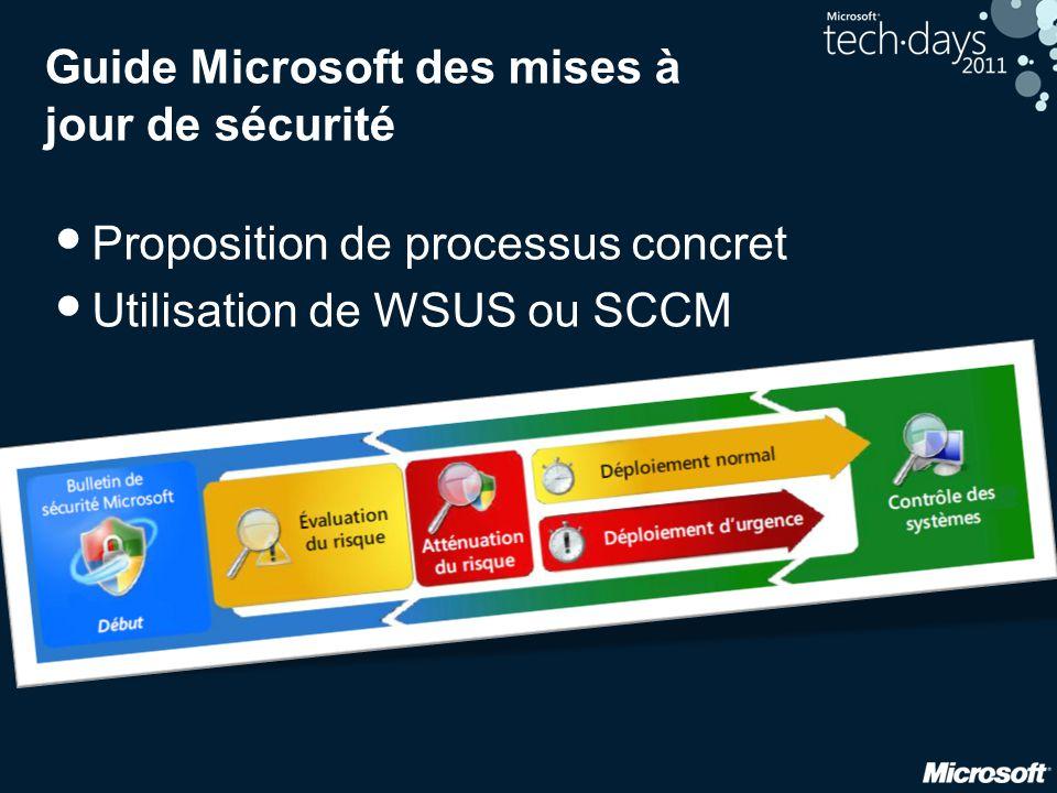 Guide Microsoft des mises à jour de sécurité