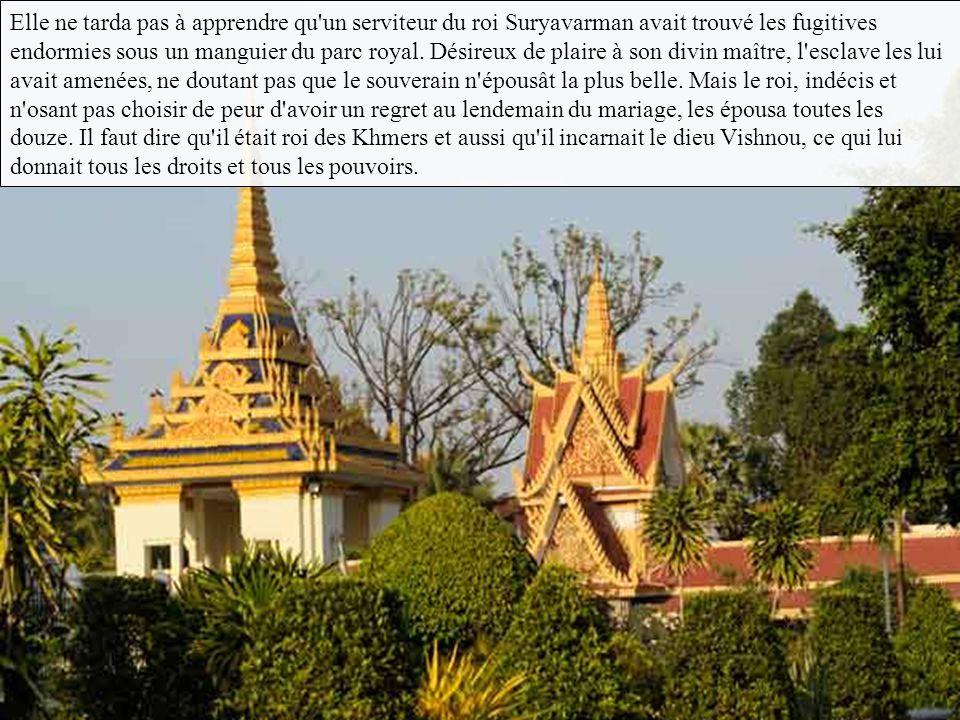 Elle ne tarda pas à apprendre qu un serviteur du roi Suryavarman avait trouvé les fugitives endormies sous un manguier du parc royal.