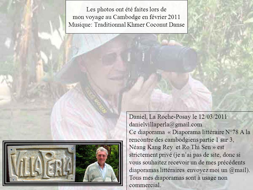 Les photos ont été faites lors de mon voyage au Cambodge en février 2011 Musique: Traditionnal Khmer Coconut Danse
