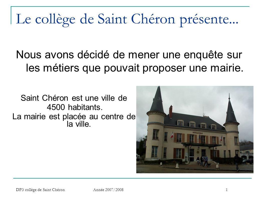 Le collège de Saint Chéron présente...