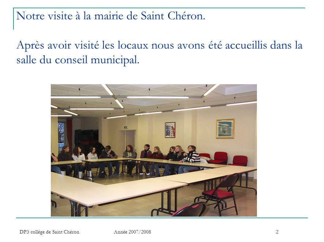 Notre visite à la mairie de Saint Chéron