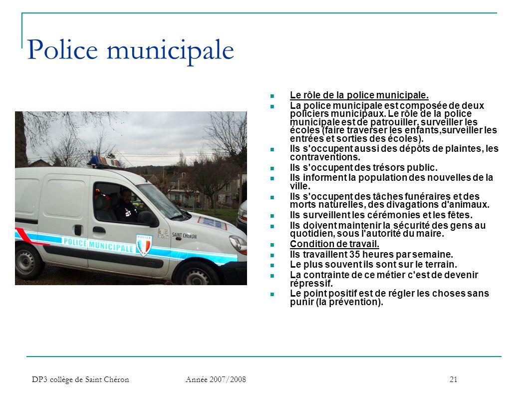 Police municipale Le rôle de la police municipale.