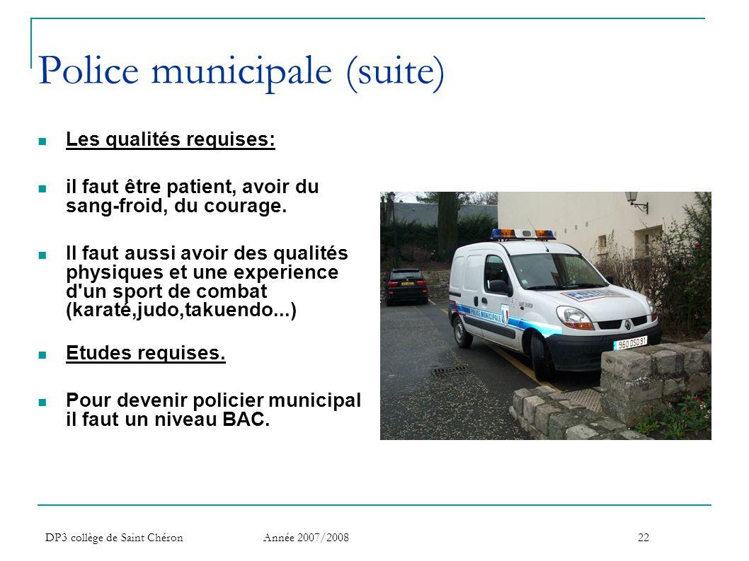 Police municipale (suite)