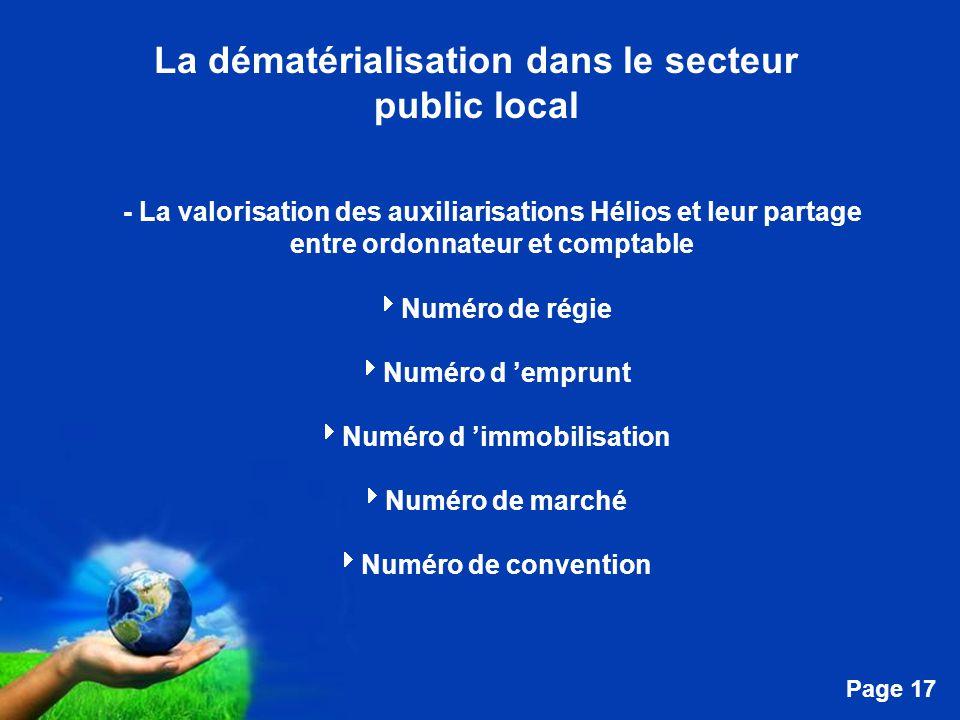 La dématérialisation dans le secteur Numéro d 'immobilisation