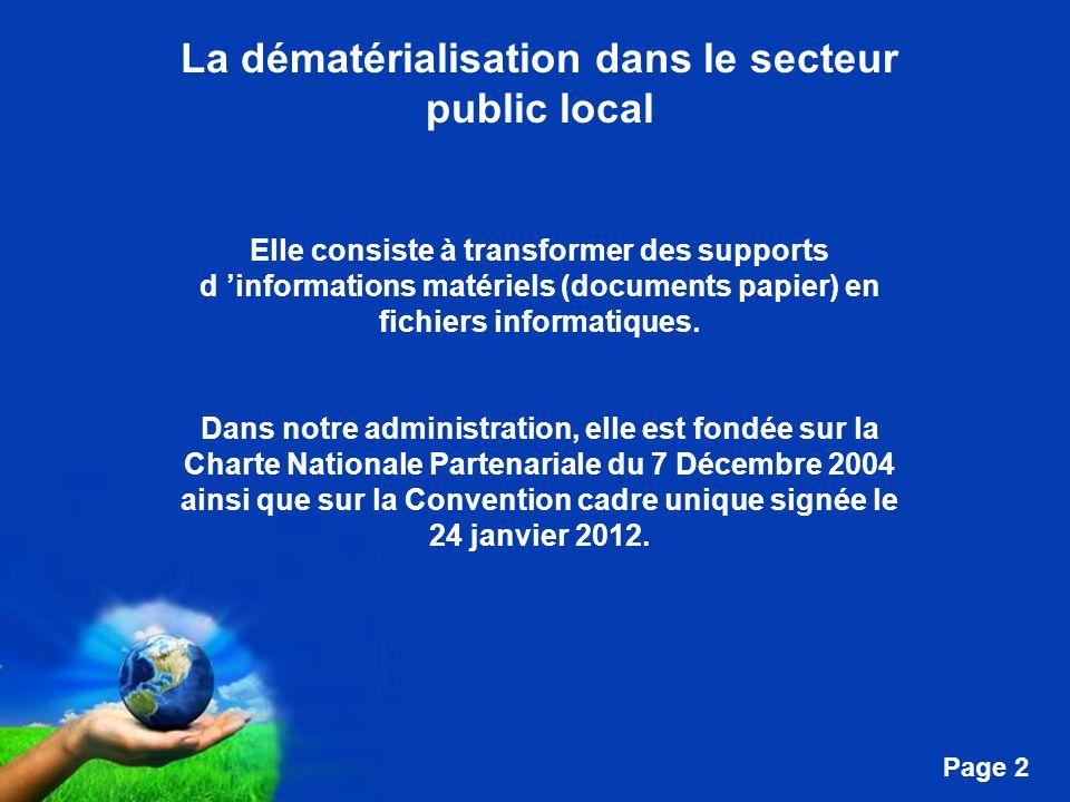 La dématérialisation dans le secteur public local