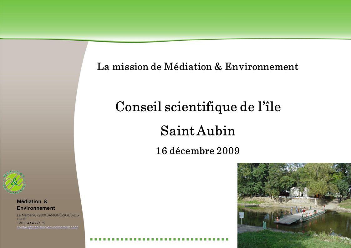 La mission de Médiation & Environnement Conseil scientifique de l'île