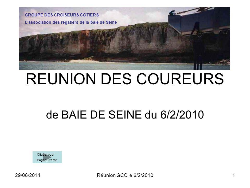 REUNION DES COUREURS de BAIE DE SEINE du 6/2/2010 02/04/2017