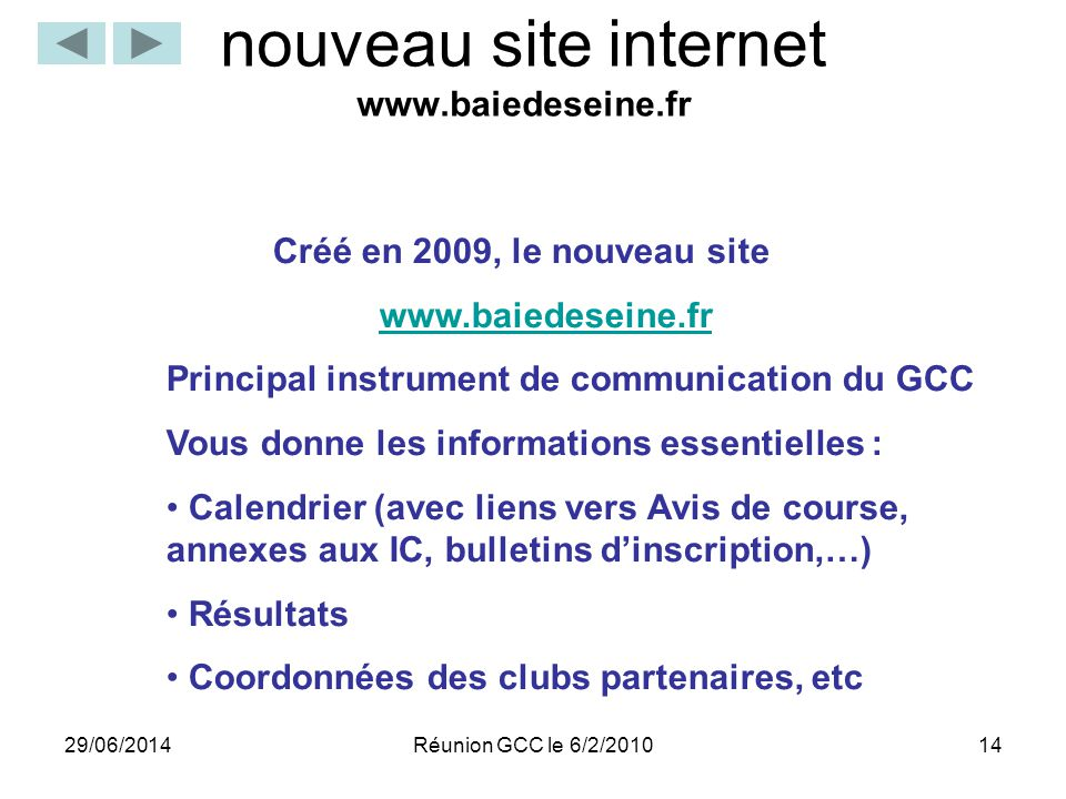 nouveau site internet www.baiedeseine.fr