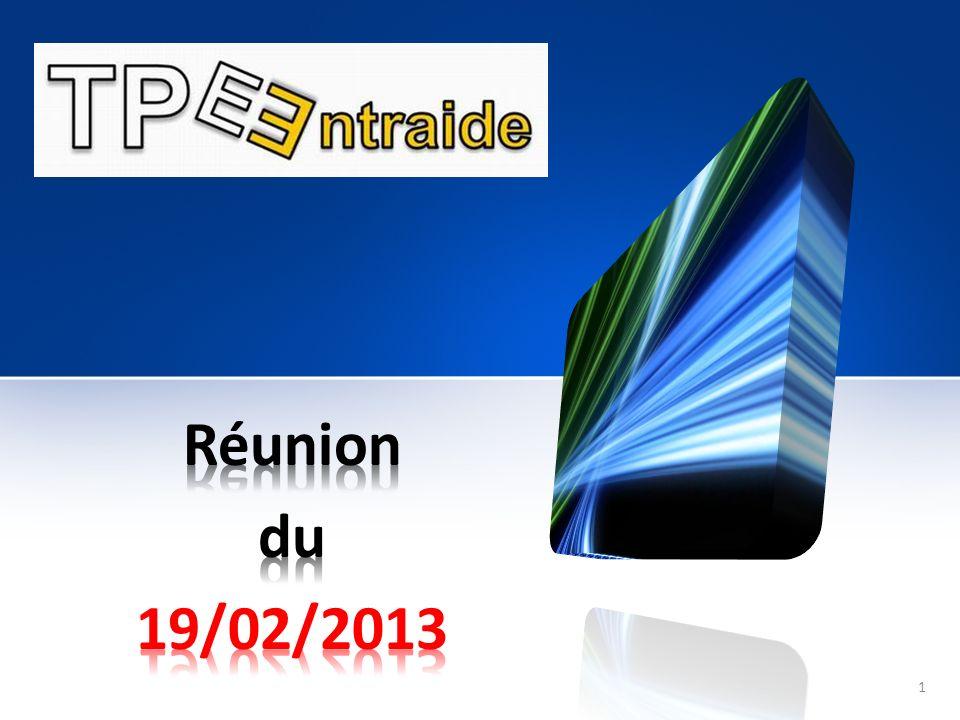 Réunion du 19/02/2013