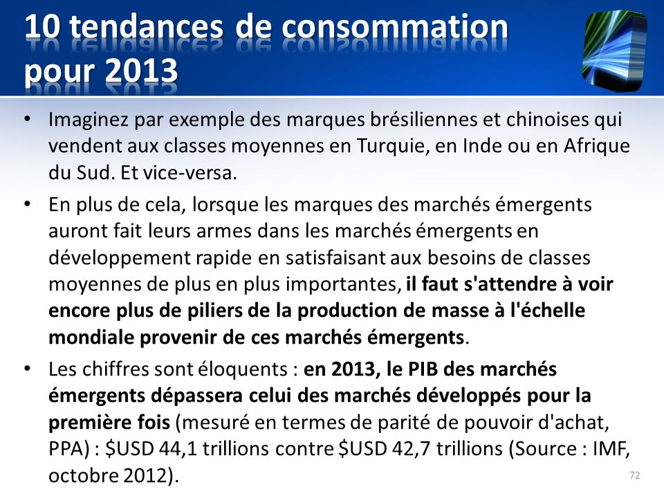 10 tendances de consommation pour 2013