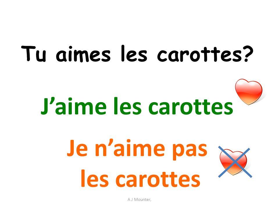 J'aime les carottes Je n'aime pas les carottes