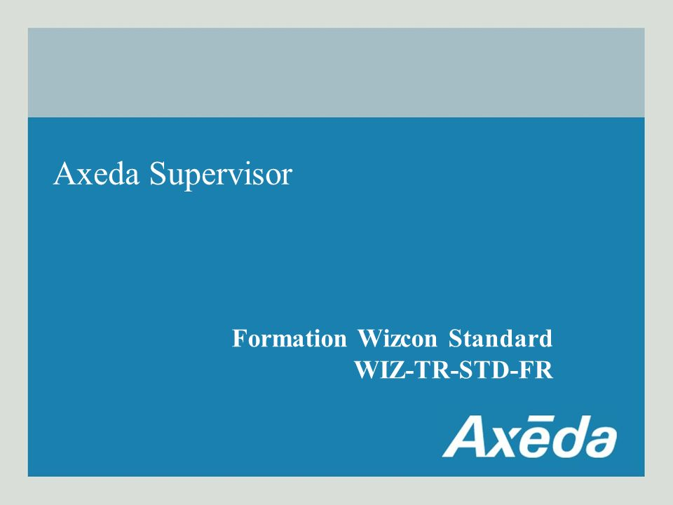 Formation Wizcon Formation Wizcon Standard WIZ-TR-STD-FR