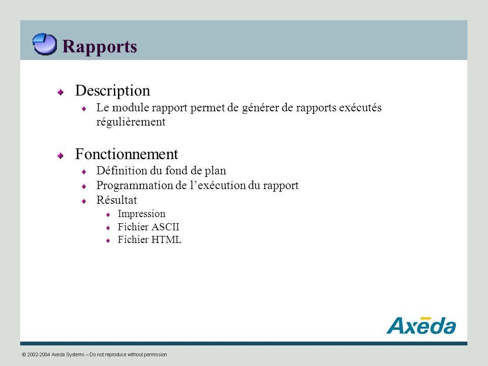 Rapports Description Fonctionnement