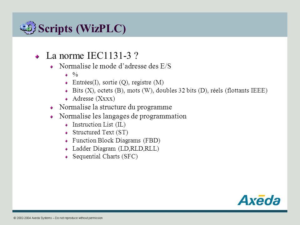 Scripts (WizPLC) La norme IEC1131-3