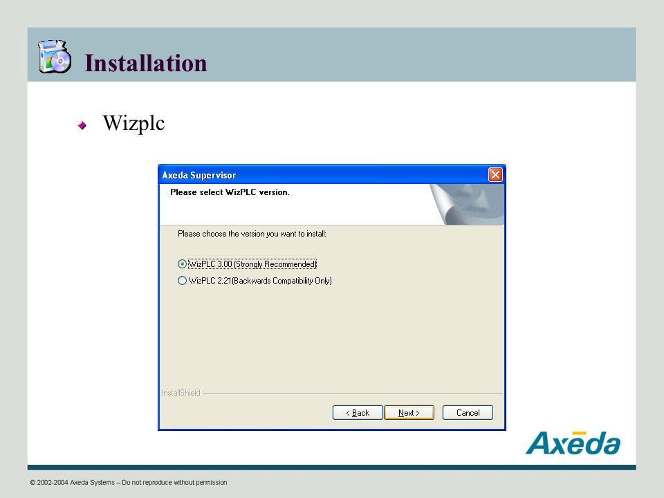 Installation Wizplc