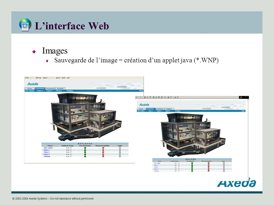 L'interface Web Images