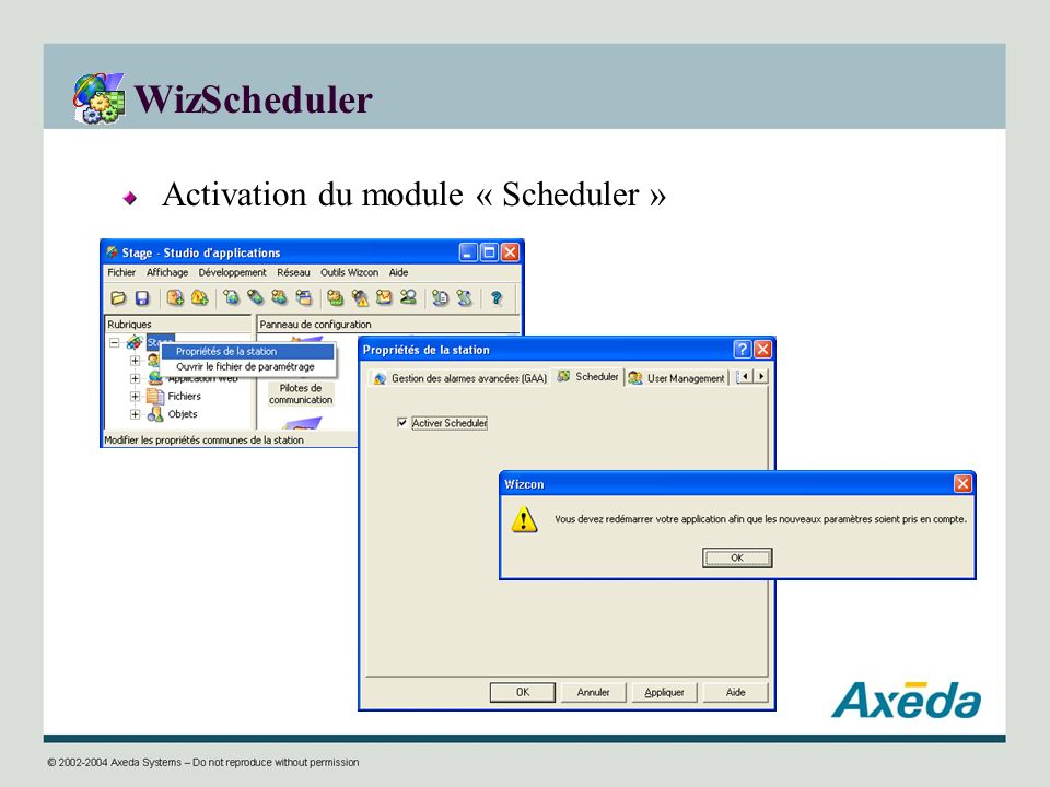 WizScheduler Activation du module « Scheduler »