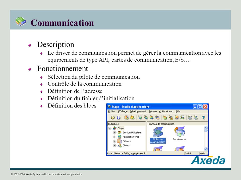 Communication Description Fonctionnement