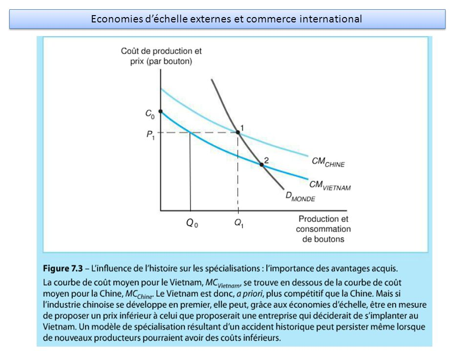 Economies d'échelle externes et commerce international