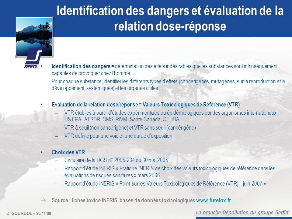 Identification des dangers et évaluation de la relation dose-réponse