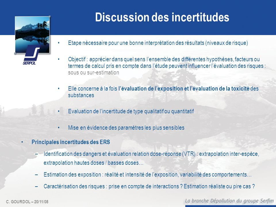 Discussion des incertitudes