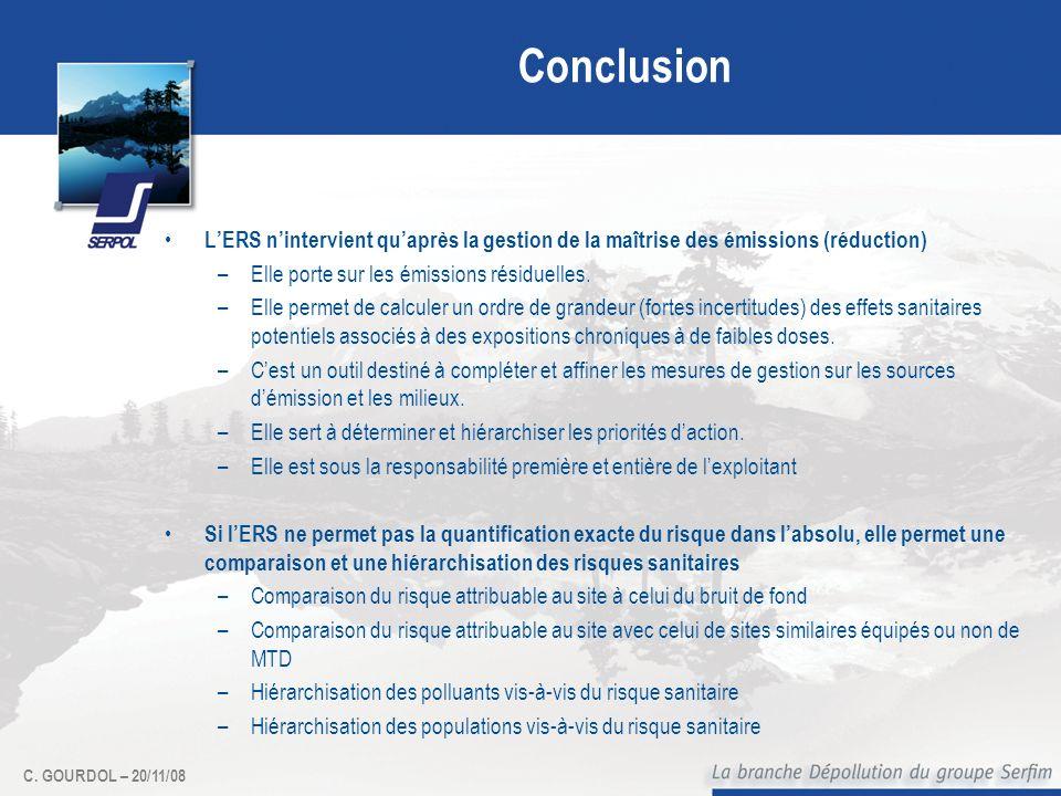 Conclusion L'ERS n'intervient qu'après la gestion de la maîtrise des émissions (réduction) Elle porte sur les émissions résiduelles.