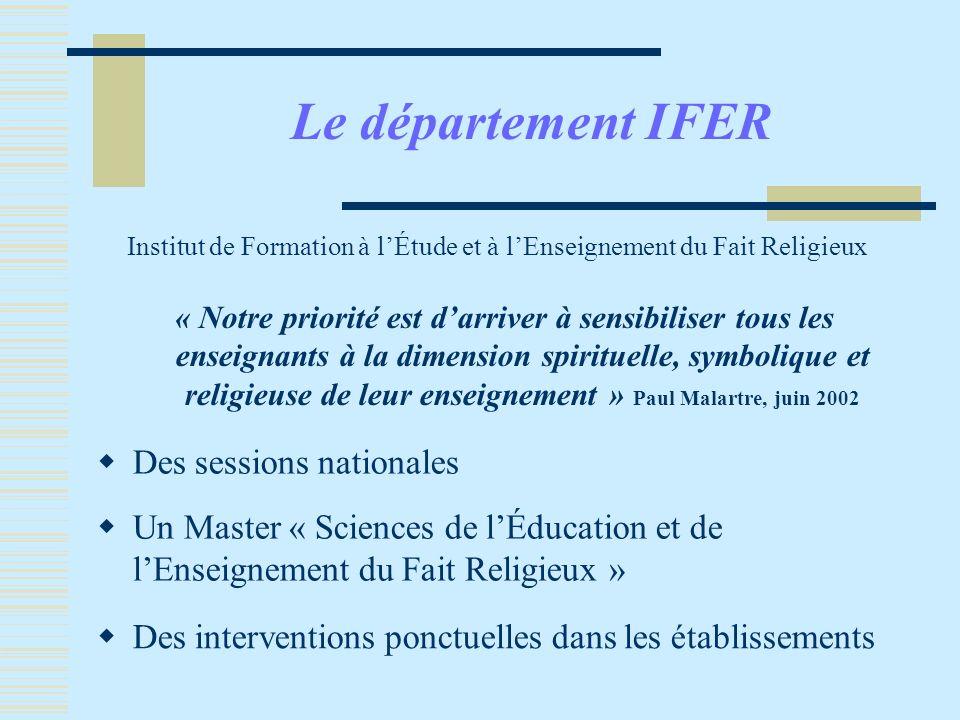 Institut de Formation à l'Étude et à l'Enseignement du Fait Religieux