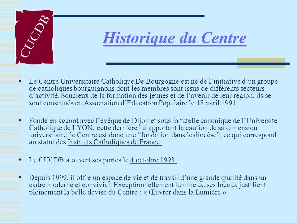 Historique du Centre