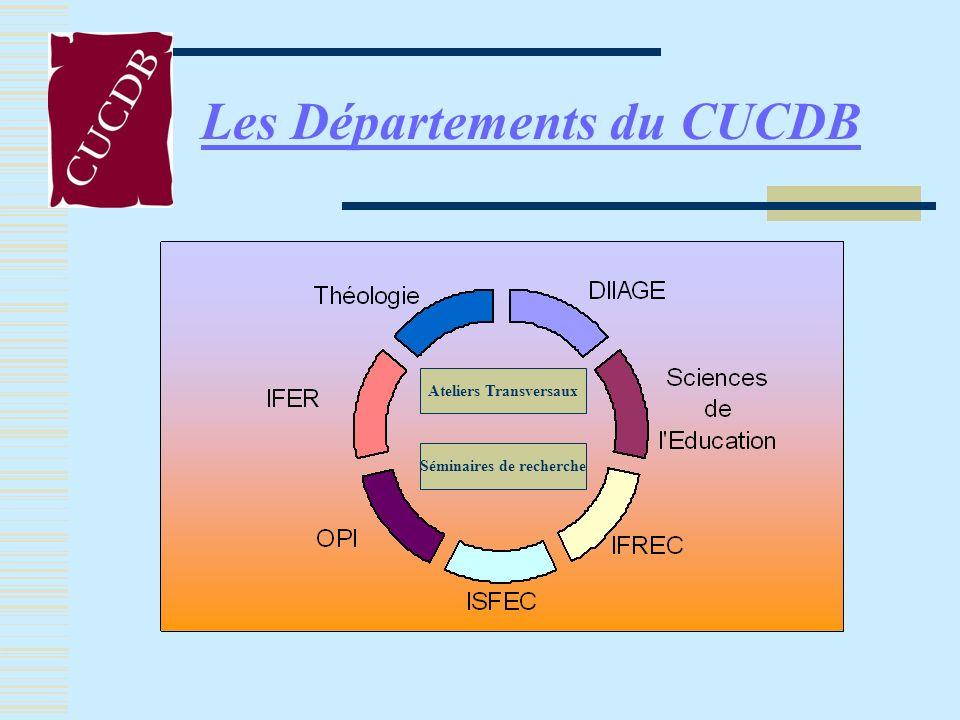 Les Départements du CUCDB