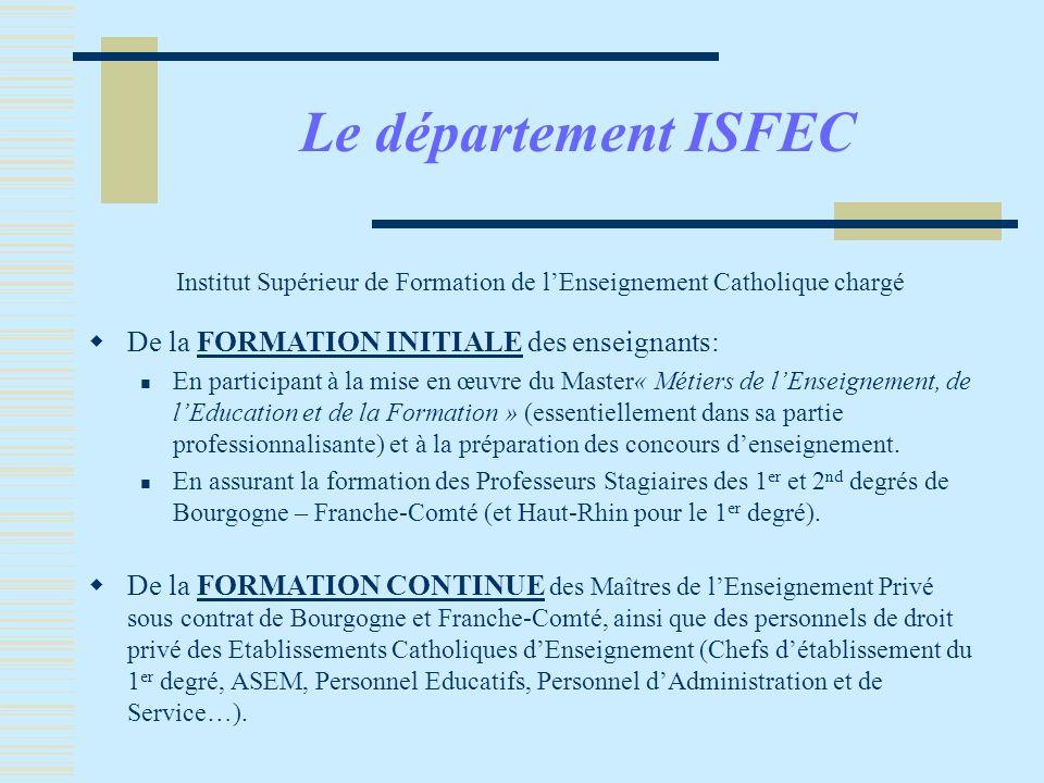 Institut Supérieur de Formation de l'Enseignement Catholique chargé