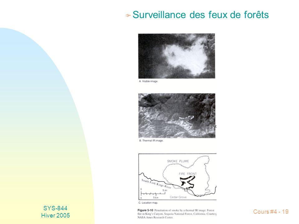 Surveillance des feux de forêts