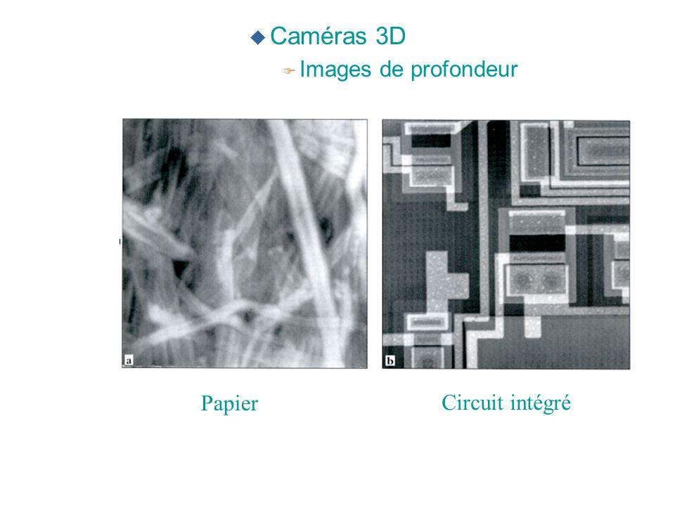 Caméras 3D Images de profondeur Papier Circuit intégré